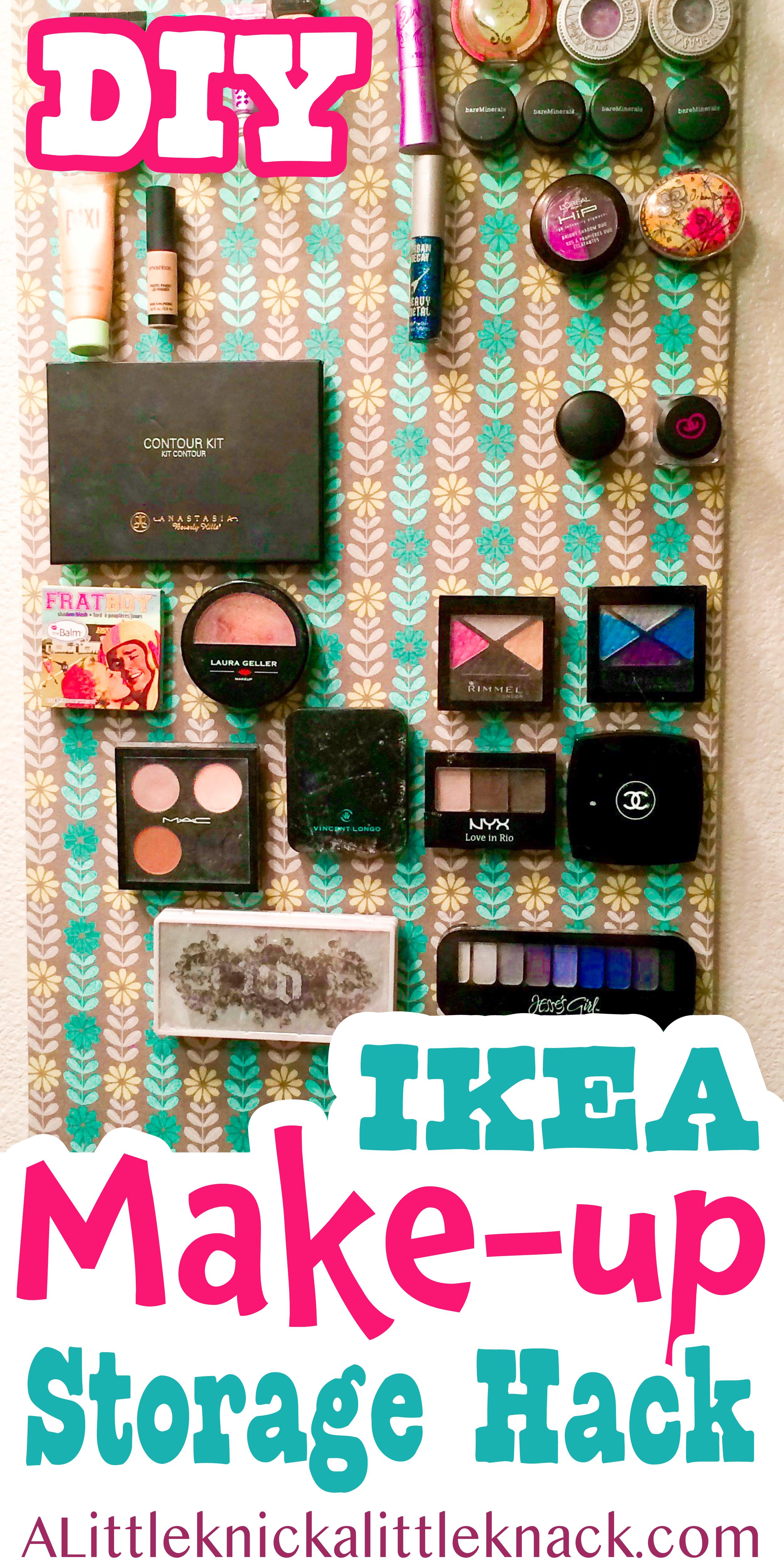 Diy Magnetic Makeup Board A Little